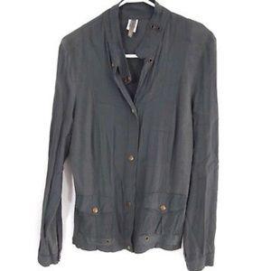XCVI Jacket Light Military Snap Button Pockets L